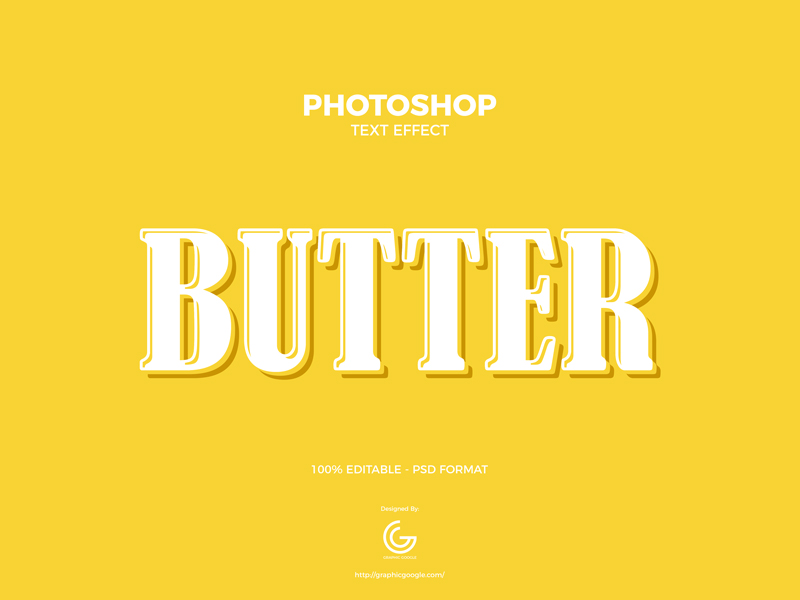 Free-Butter-Photoshop-Text-Effect-600