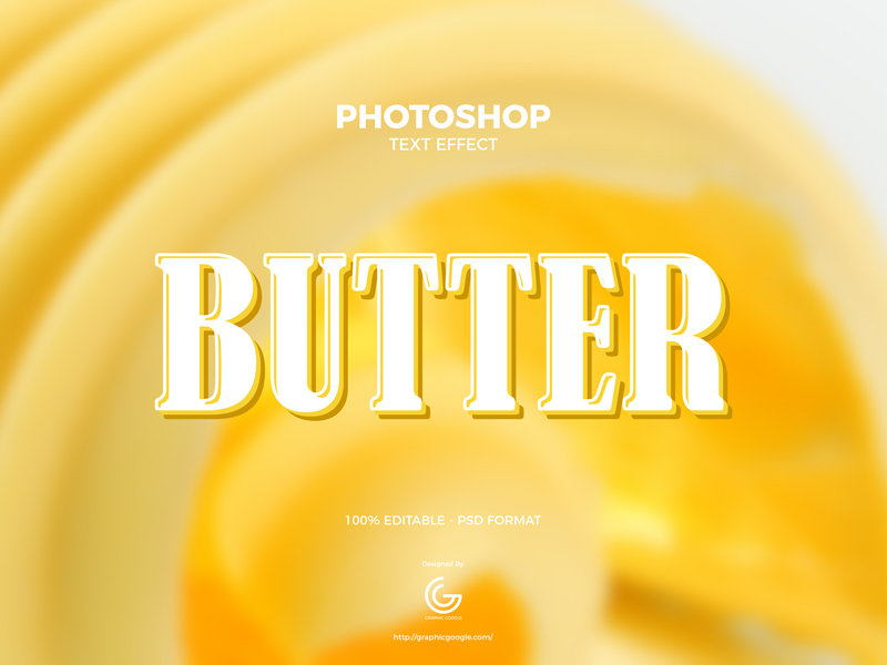 Free-Butter-Photoshop-Text-Effect