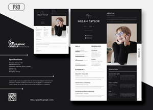 Free Creative Modern Cv Resume With Cover Letter For Designers Graphic Google Tasty Graphic Designs Collectiongraphic Google Tasty Graphic Designs Collection
