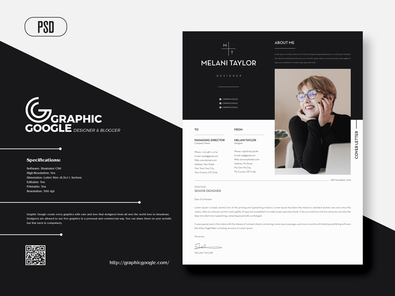 Free-Creative-Modern-CV-Resume-With-Cover-Letter-For-Designers-600