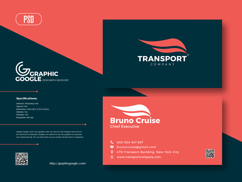 Free-Transport-Company-Business-Card-Design-Template-For-2021
