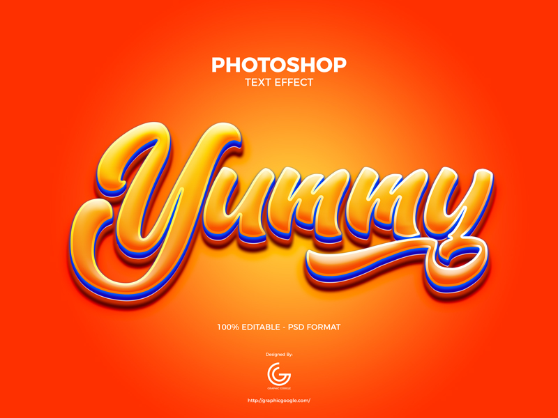 Free-Yummy-Photoshop-Text-Effect