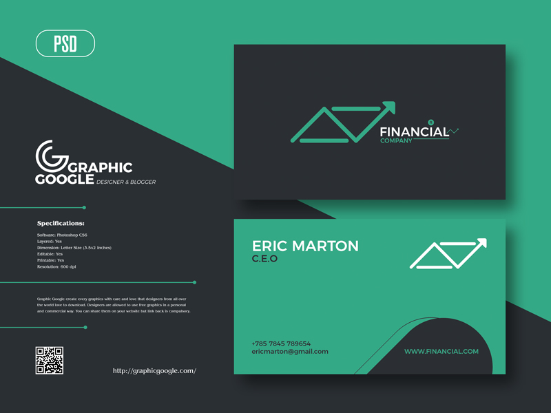 Free-Financial-Business-Card-Design-Template