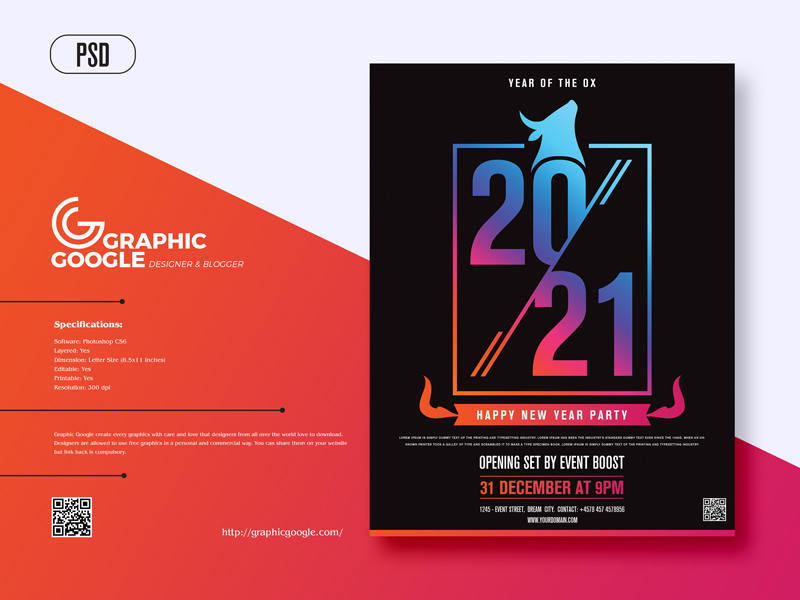 Free-Happy-New-Year-2021-Party-Flyer-Design-Template