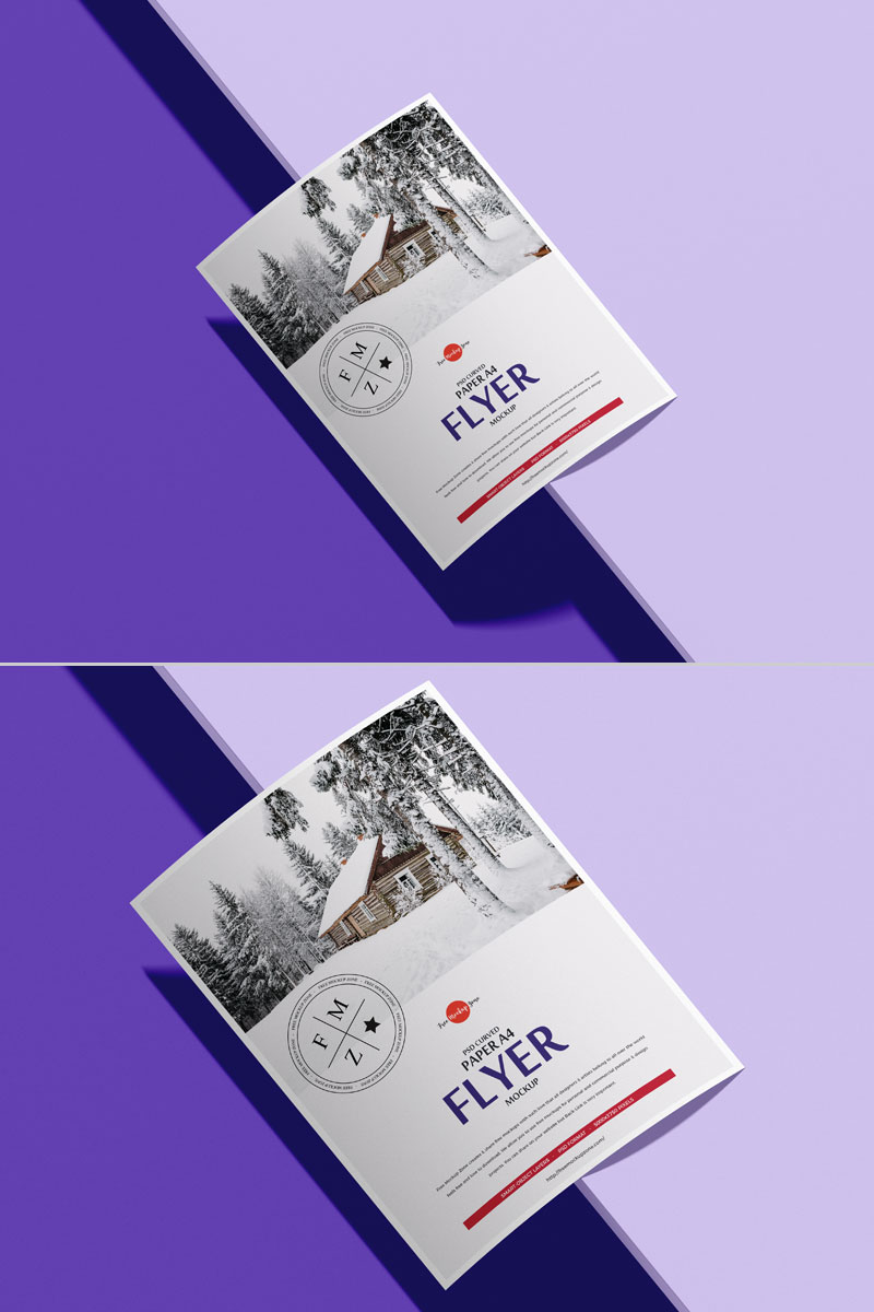 Free-Brand-A4-Curved-Flyer-Mockup-PSD