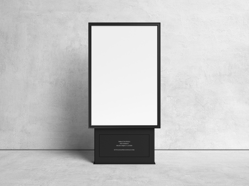 Free-Citylight-Advertising-Stand-Banner-Mockup-600