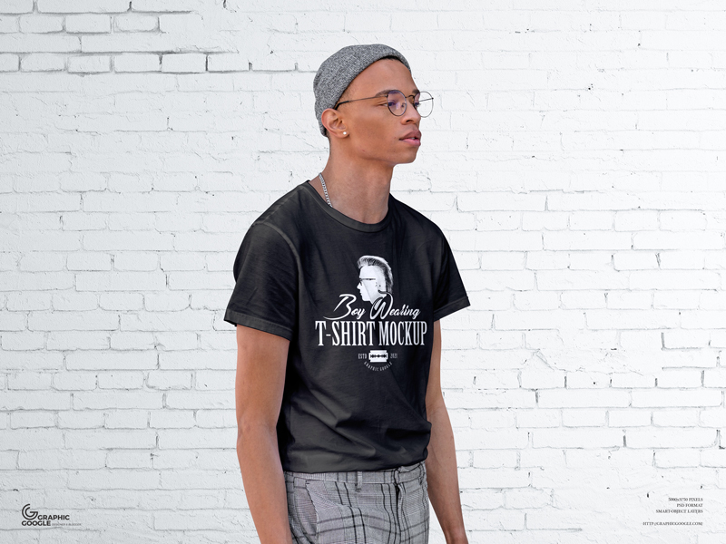 Free-Boy-Wearing-T-Shirt-Mockup-600