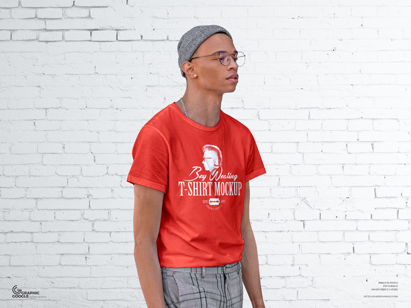 Free-Boy-Wearing-T-Shirt-Mockup