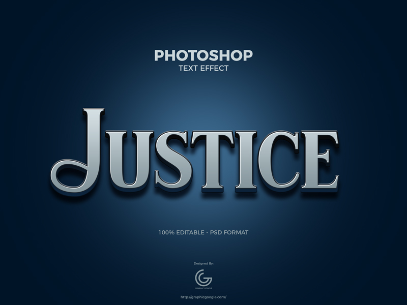 Free-Justice-Photoshop-Text-Effect