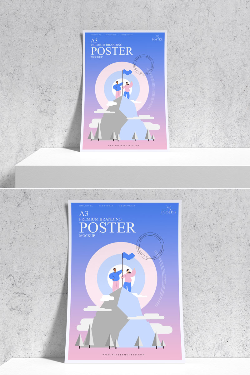 Free-Stand-Up-Curved-Poster-Mockup