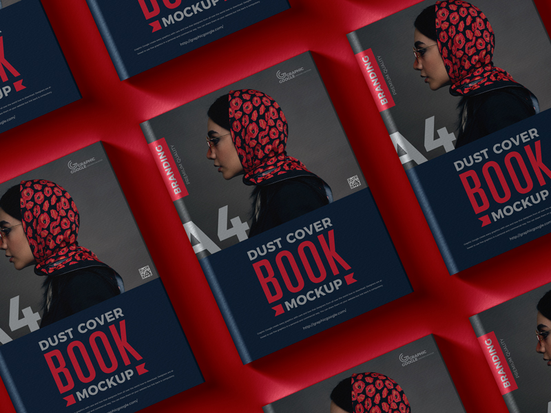 Free-Dust-Cover-Branding-A4-Book-Mockup-600