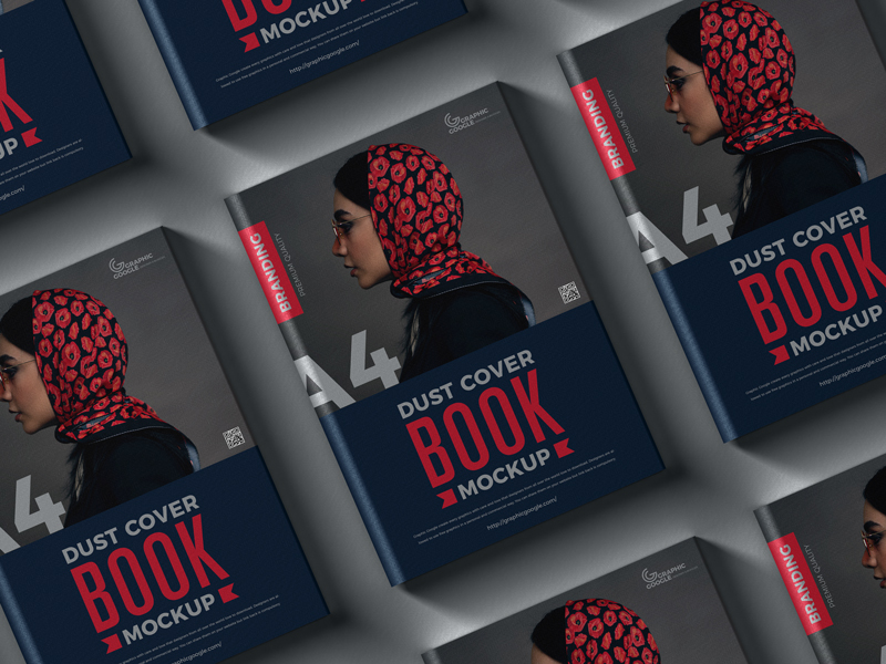 Free-Dust-Cover-Branding-A4-Book-Mockup