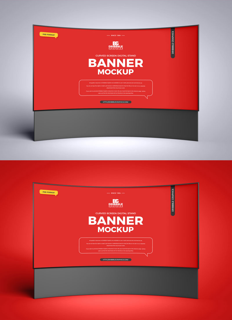 Free-Curved-Screen-Digital-Stand-Banner-Mockup-PSD-Design-Template