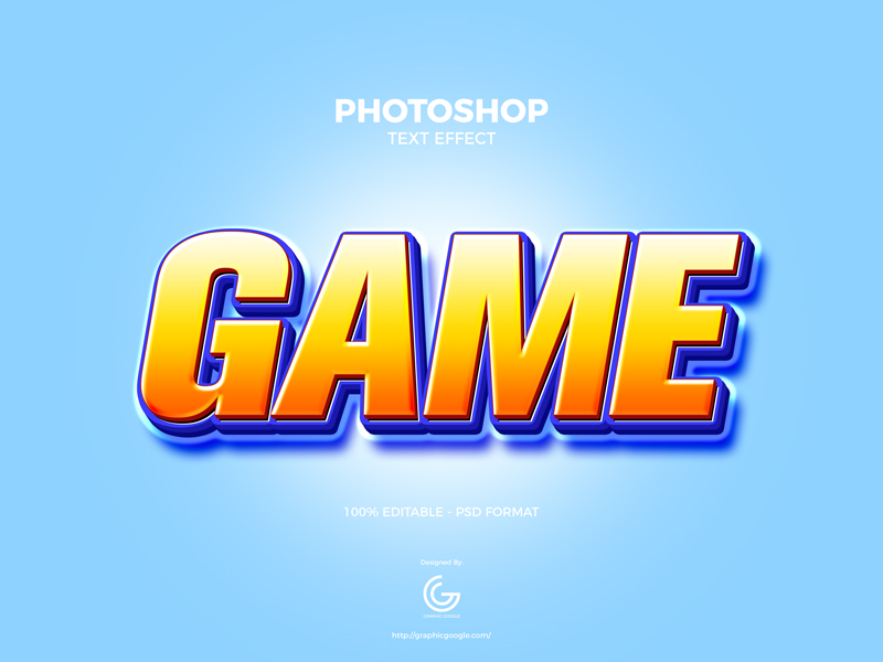 Free-Game-Photoshop-Text-Effect