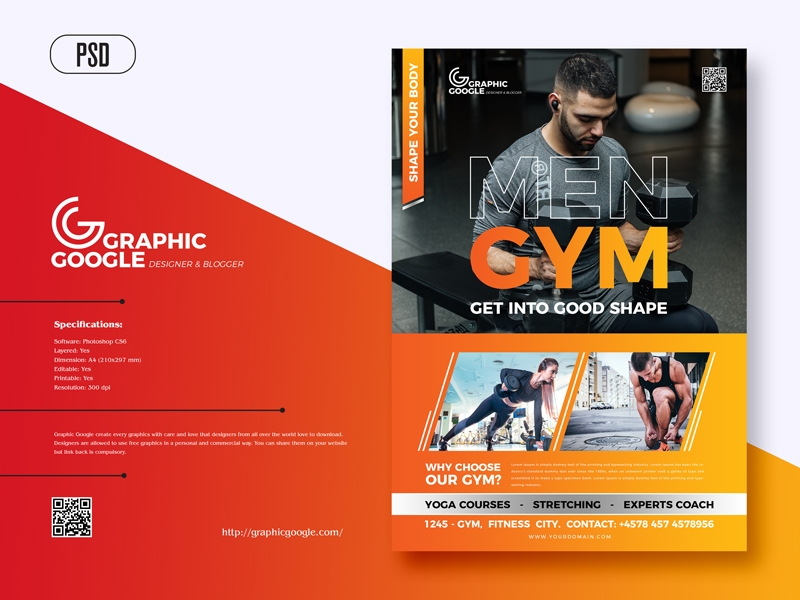 Free-Modern-Gym-Fitness-Flyer-Template