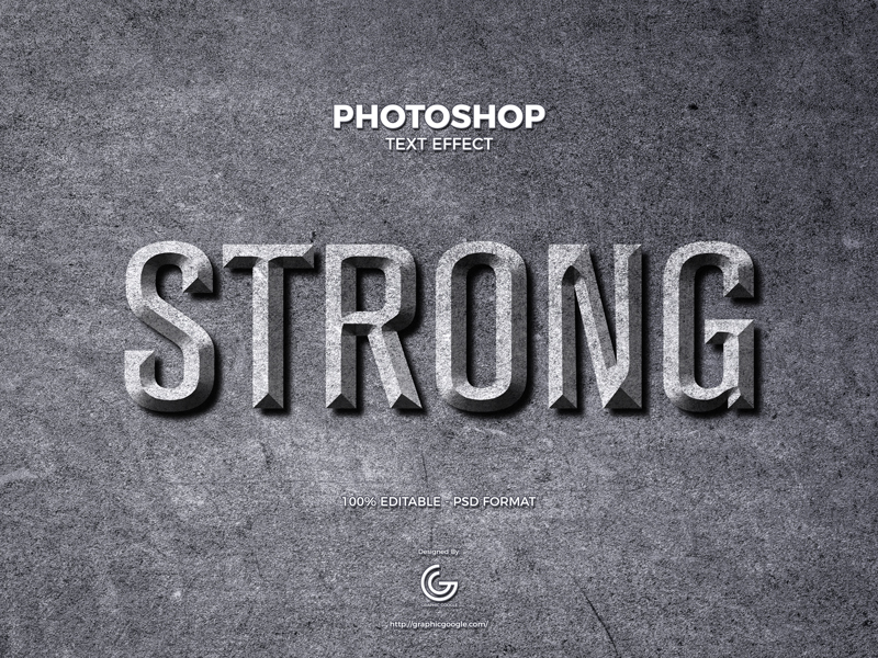Free-Strong-Photoshop-Text-Effect