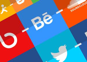 Free 40 Flat Classy Social Media Icons