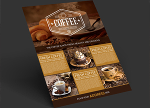 Free Coffee Shop A4 Flyer
