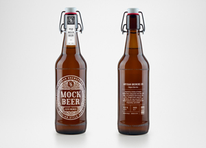 Photorealistic Beer Bottle MockUp