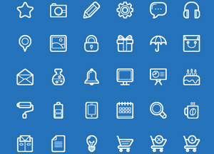 100 Free Flat Custom Icons