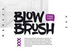 Free Artistic Blow Brush Font