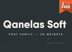 Free Qanelas Soft Sans Serif Font