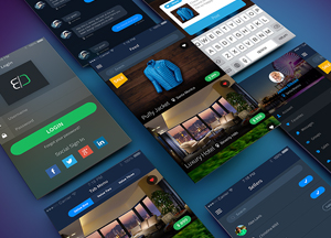 Free Sales App UI-UX Concept PSD