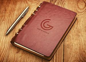 Notebook Emboss Logo Mockup