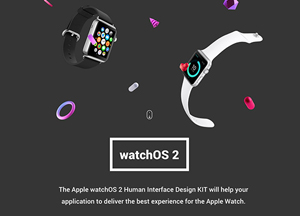 Apple WatchOS 2 Human Interface Complete UI Kit