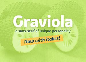 Free Graviola Unique Sans-Serif Font