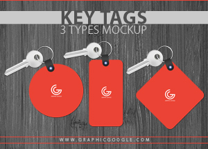 Key Tags 3 Types Mockup