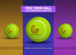 Free Tennis Ball Logo Branding Mockup