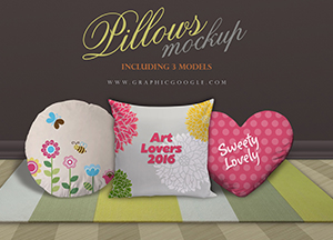 Pillows Mockup with 3 Models
