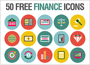 50 Free Finance Icons