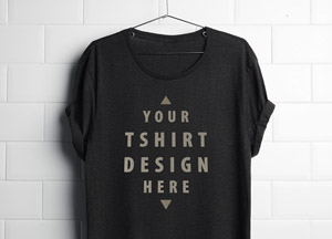 Free Realistic Hanging T-Shirt Mockup