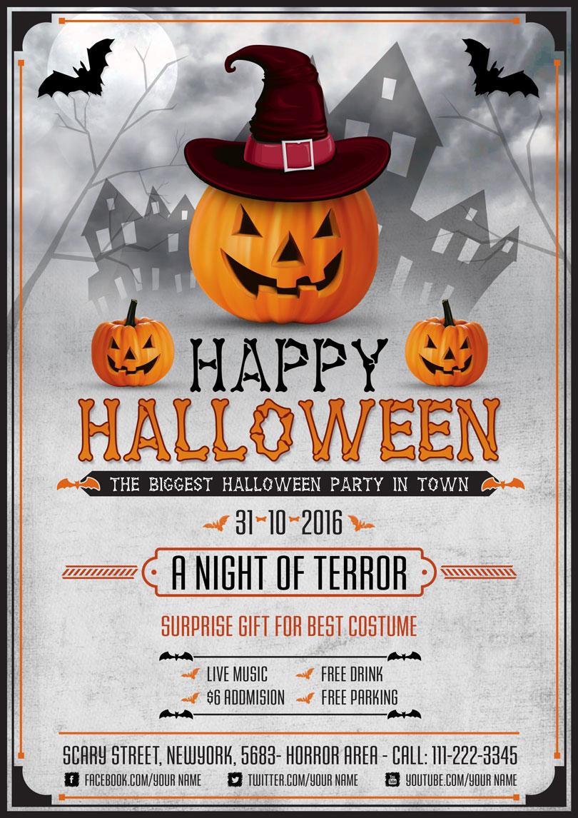 Comprehensive image with regard to free printable halloween flyer templates