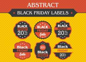 Free Abstract Black Friday Labels Designs Vector Ai File