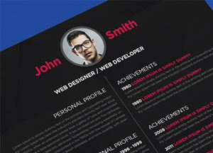 10+ Newest Free & Premium Resume Templates For Graphic & Web Designers