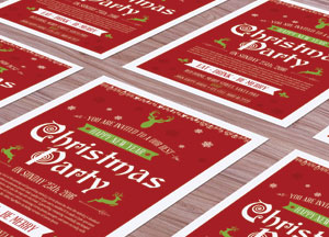 Free Christmas Flyer Mock-up Psd