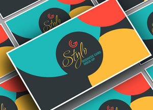 Free Stylo Business Card Mock-up PSD