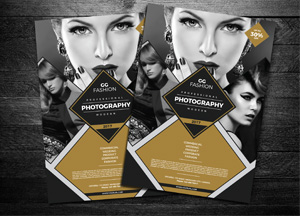 Free Elegant Fashion Photography Flyer Design Template