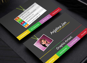 Free Graphic Artist Business Card Template Design