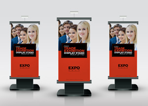 Free Trade Exhibition Display Stand Mock-up Psd