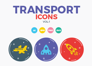 Free 30 Transport Icons Vol #1