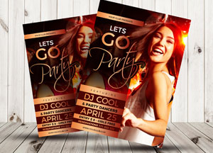 Free Cool Party Flyer Template Design