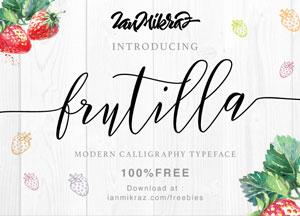 Free Fruitilla Modern Script Typeface