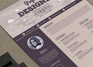 Free Creative Vintage Resume Design Template For Designers