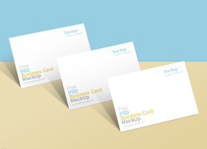 Free PSD Business Card MockUp