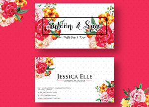 Free Saloon & Spa Business Card Design Template