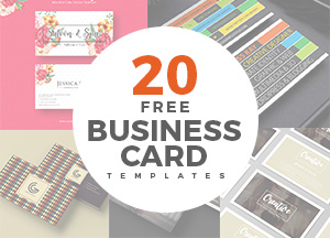 20 Newest Creative & Beautiful Free Business Card Templates